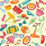 Seamless Pattern   of  accessories  background Stock Image