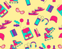 Seamless pattern accessories for teenage Royalty Free Stock Images