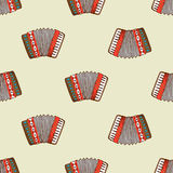 Seamless pattern with accordion Royalty Free Stock Photography