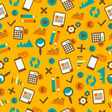 Seamless pattern with accountancy equipment. Royalty Free Stock Photo