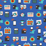 Seamless pattern with accountancy equipment. Elements and icons Royalty Free Stock Photography