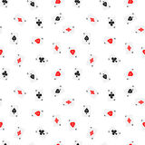 Seamless pattern of aces Royalty Free Stock Photos