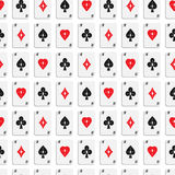 Seamless pattern of aces 02 Royalty Free Stock Photo