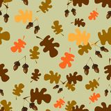 Seamless pattern with acorns Royalty Free Stock Photos