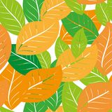 Seamless pattern with acorns and autumn oak leaves in Orange, Beige, Brown and Yellow. Perfect for wallpaper, gift paper. Pattern fills, web page background vector illustration