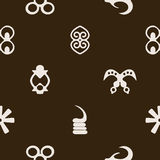 Seamless pattern with adinkra symbols Stock Photography