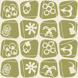 Seamless pattern with adinkra symbols Stock Images