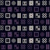 Seamless pattern with adinkra symbols Royalty Free Stock Photos