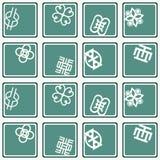 Seamless pattern with adinkra symbols Royalty Free Stock Photography