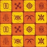 Seamless pattern with adinkra symbols Stock Photography