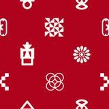 Seamless pattern with adinkra symbols Stock Images