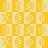 Seamless pattern with adinkra symbols Stock Photo