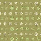 Seamless pattern with adinkra symbols Stock Photos