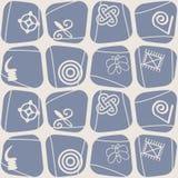 Seamless pattern with adinkra symbols Royalty Free Stock Image
