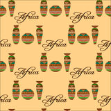 Seamless pattern with african dishes Stock Photo