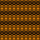 Seamless pattern. African motifs. Geometric background. Bright orange color. Black patterns. Ethnic style Stock Image