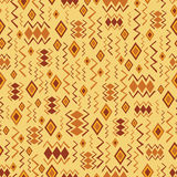 Seamless pattern with African ornament Stock Photography