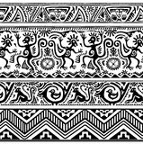 Seamless pattern of African primitive art Stock Images