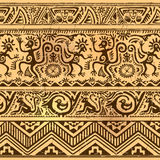 Seamless pattern of African primitive art old Stock Photography