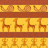 Seamless pattern in African style Stock Photos