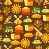 Seamless pattern with agricultural objects Stock Image