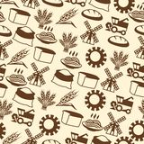 Seamless pattern with agricultural objects royalty free illustration