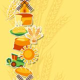 Seamless pattern with agricultural objects Royalty Free Stock Photography