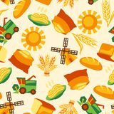 Seamless pattern with agricultural objects Royalty Free Stock Image