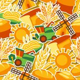Seamless pattern with agricultural objects Royalty Free Stock Photo