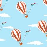 Seamless   pattern air  ballon Stock Images