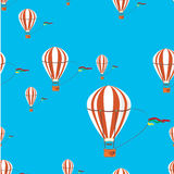Seamless   pattern air  ballon Royalty Free Stock Image