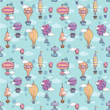 Seamless pattern with air balloons Stock Images