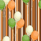 Seamless pattern with air balls Royalty Free Stock Photos