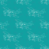 Seamless Pattern Of Airplane Stock Photos