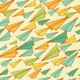 Seamless pattern with airplanes. Back to school Royalty Free Stock Images