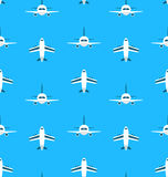 Seamless Pattern with Airplanes Royalty Free Stock Photography