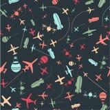Seamless pattern. Airplanes sky set. Seamless pattern. Airplanes and sky set. Design illustration stock illustration
