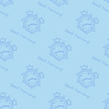 Seamless pattern with alarm clock Royalty Free Stock Photos