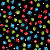 Seamless pattern with aliens. vector. Stock Photos