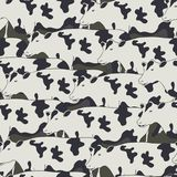 Seamless pattern all cows. Vector Stock Photo