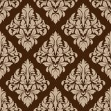 Seamless pattern in almond and cinnamon colors Stock Images