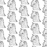 Seamless pattern of alpaca Stock Photo