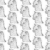 Seamless pattern of alpaca Stock Photo