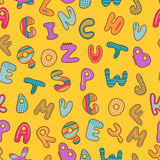 Seamless pattern with alphabet. Seamless pattern with cute childish alphabet Royalty Free Stock Images