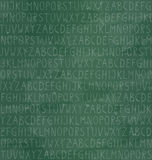 Seamless pattern with alphabet on chalkboard background Stock Images