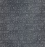 Seamless pattern with alphabet on chalkboard background Royalty Free Stock Photography