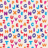 Seamless pattern alphabet. Seamless pattern of colorful alphabet. For the children`s things. Vector illustration royalty free illustration