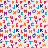 Seamless pattern alphabet. Royalty Free Stock Image
