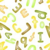Colorful plasticine letters for children. Wallpaper or textile vector illustration. Stock Photo