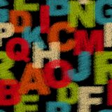 Seamless pattern with alphabet. Royalty Free Stock Photo